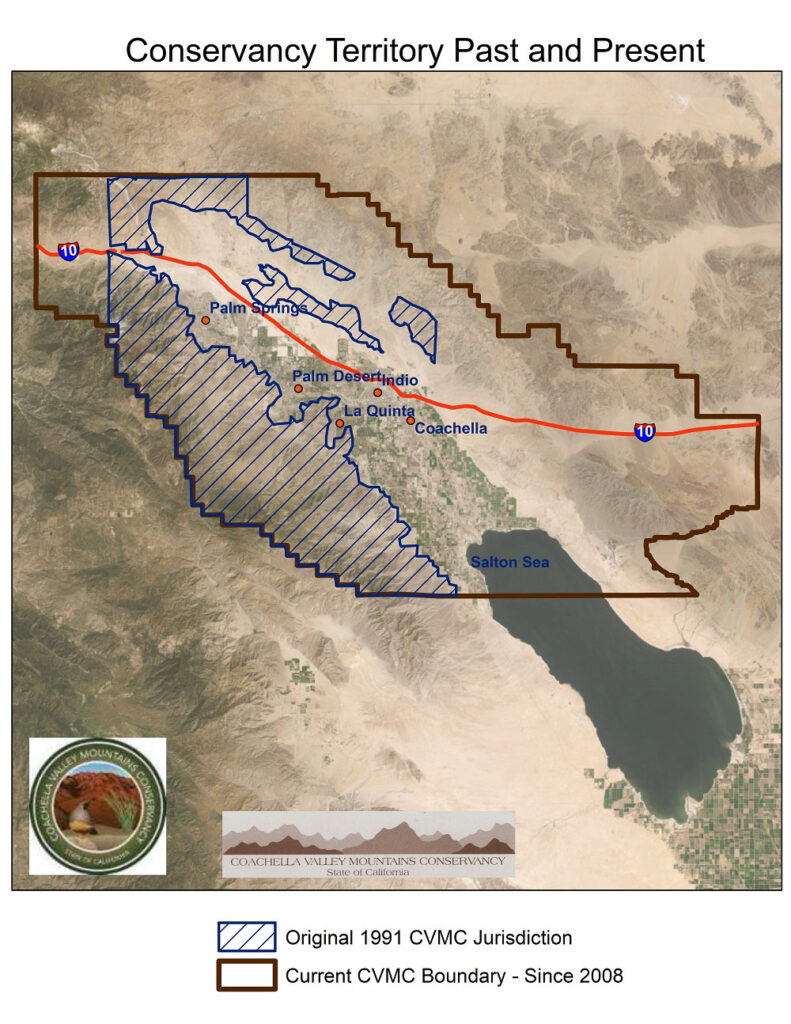 Map of conservancy territory past and present